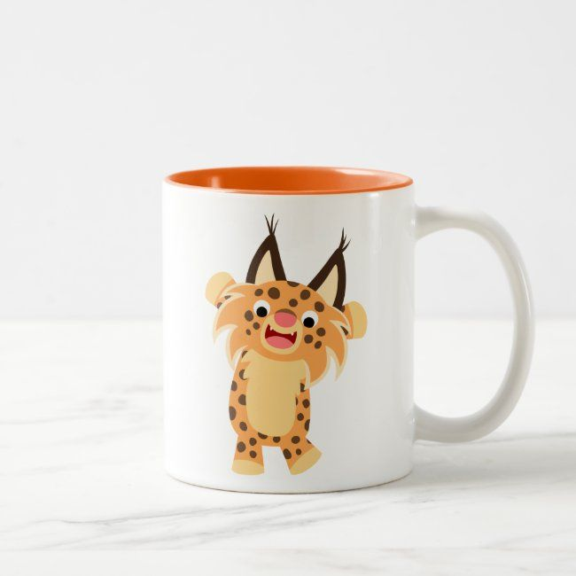Cute Spunky Cartoon Bobcat Mug Zazzle Com Spunky Cute Cartoon Animals Cartoon