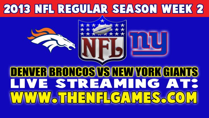 denver broncos vs new york giants free live stream gallery