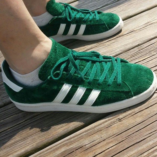 olive green adidas campus shoes