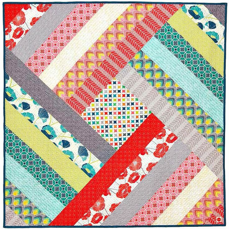 "= free pattern = Spin Me Round quilt, 46 x 46"", by ModKid"