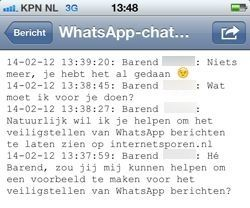 WhatsApp berichten veiligstellen