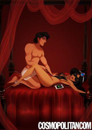 Le coppie Disney interpretano 50 sfumature Jasmine e Aladdin in una famosa scena