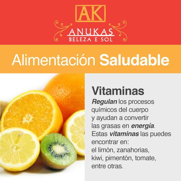 #Alimentación Saludable Vitaminas regulan los procesos químicos del cuerpo...