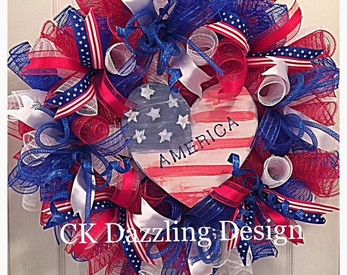 summer deco mesh wreath 4th of July wreath white red Memorial Day wreath Labor Day wreath Patriotic wreath patriotic deco mesh blue