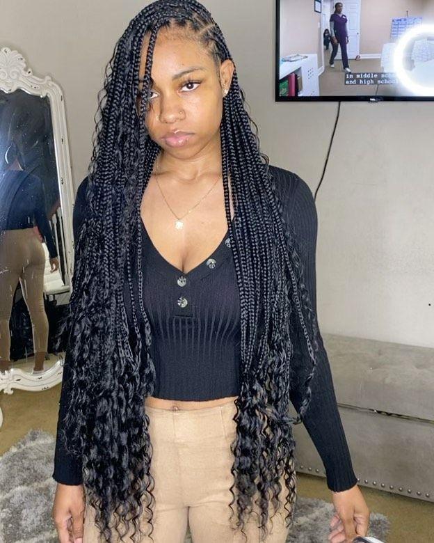 11+ Small goddess box braids inspirations