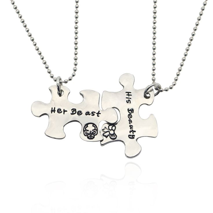"""""""Lovers Puzzles"""" Beauty and the Beast Pendant Necklace  Price: 2.80 & FREE Shipping  Get it here ---> https://thegiftscafe.com/2pcs-set-his-beauty-her-beast-pendant-necklace-silver-lovers-puzzles-jewelry-gift-for-couples-men-women-colar-dropshipping/ Like Our FB Page --> https://www.facebook.com/EazyDevices/  #heartratetracker"""