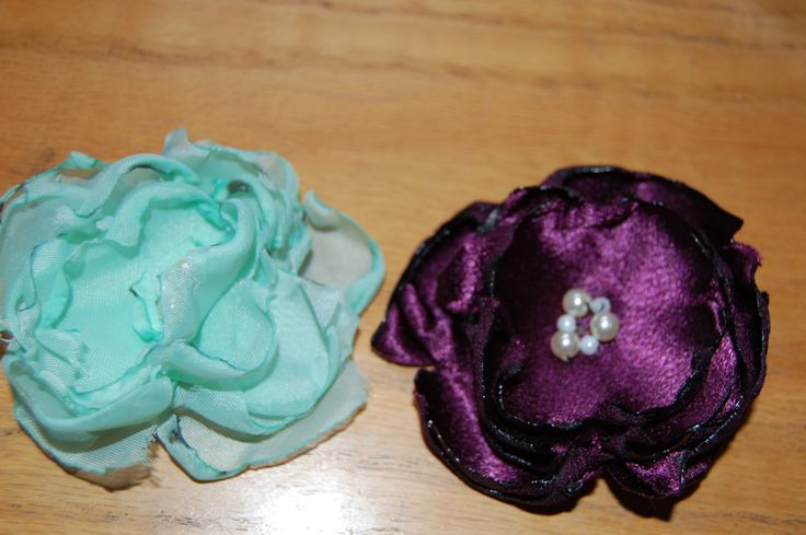 Fabric flower hair clip  / Broach by Houseofbecca on Etsy