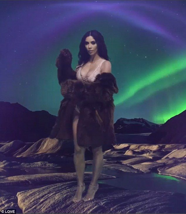 A new horizon: Kim Kardashian has ensured she's not far away from her fans' thoughts this ...