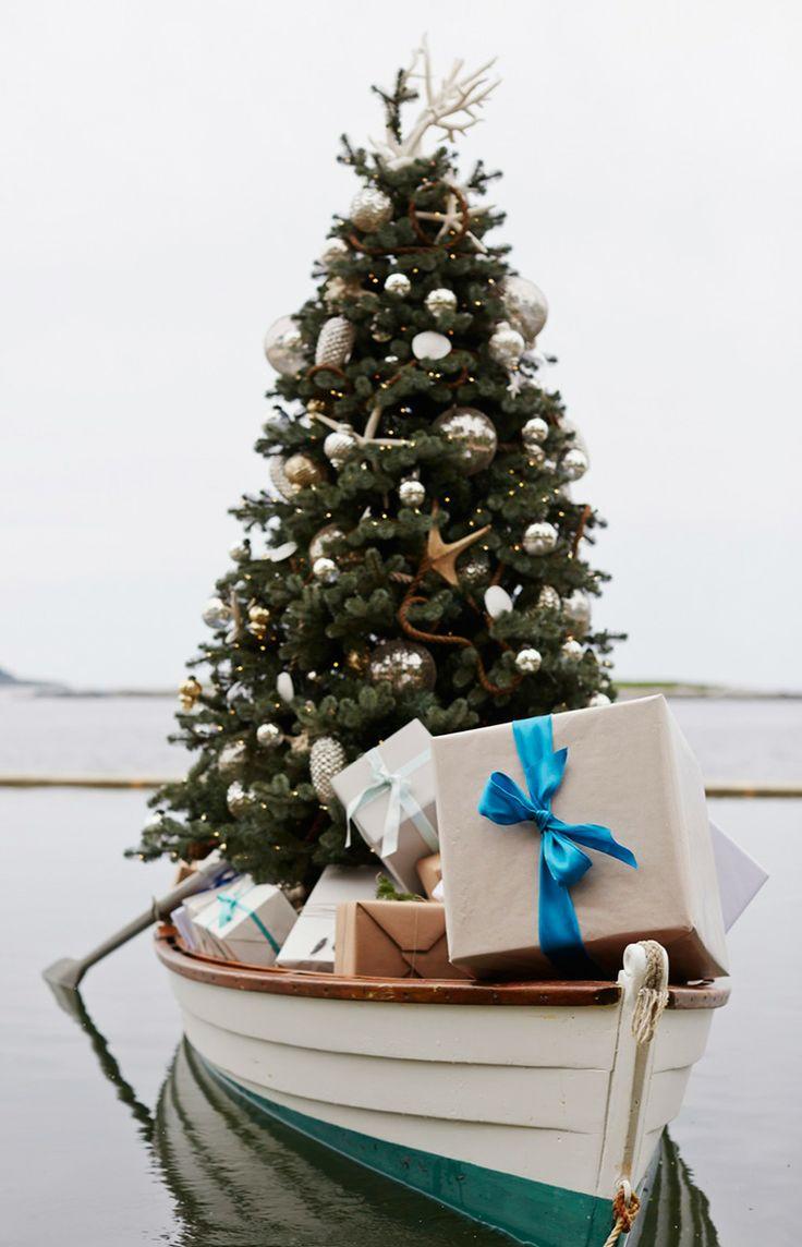 Nautical tree ornaments - Sail Away For A Seaside Christmas