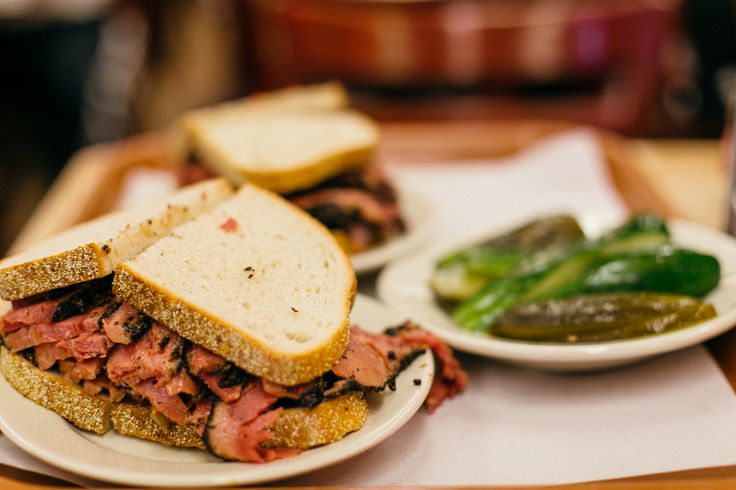 Katz's delicatessen is a must in NYC. Pastrami time!