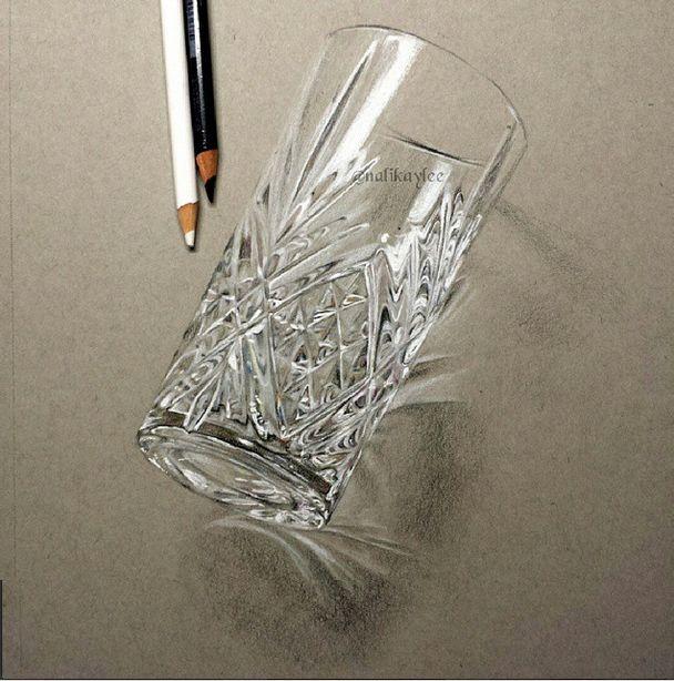 """""""Glass"""", nalikaylee, color drawing, 2015"""
