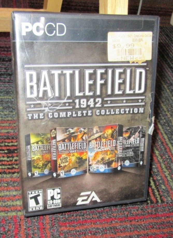 BATTLEFIELD 1942: THE COMPLETE COLLECTION 8-DISC PC CD-ROM SET