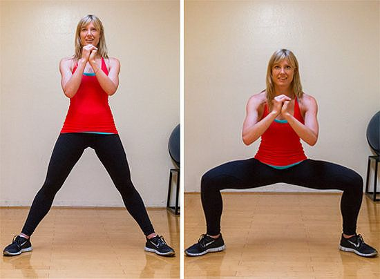 Wide Squat  Best Exercises for Glutes Series Butt. Love these! I've gotten amazing, super fast results by adding these to my daily workout routine.