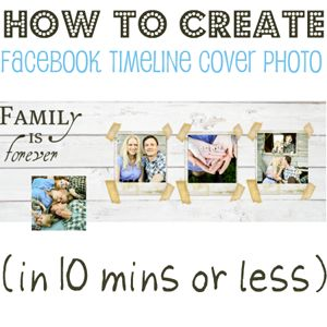 How to Create a Facebook Timeline Cover Photo Template  January 6, 2012  Post Objective: To teach (anyone who wants to know) how to create a customized facebook timeline cover photo using Picnik.com.