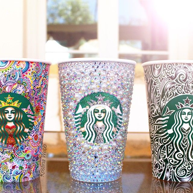 SnapWidget | Still sick here is a photo of the three Starbucks cups I've…