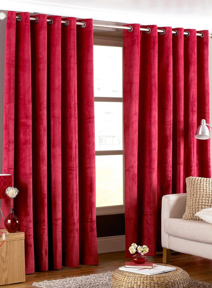 20 Hottest Curtain Designs For 2019 Red Curtains White