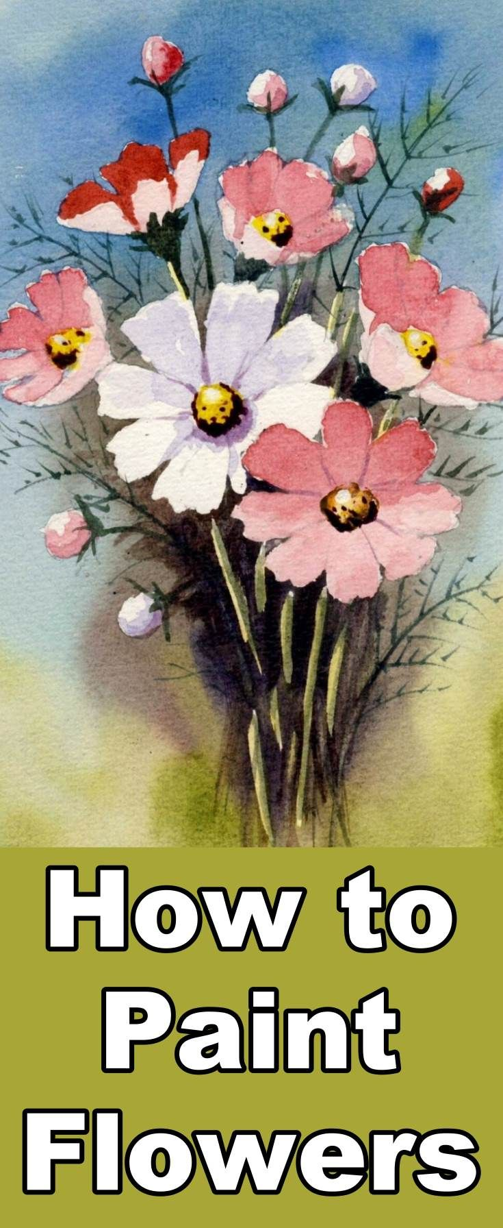 Learn how to paint flowers with this watercolor painting class