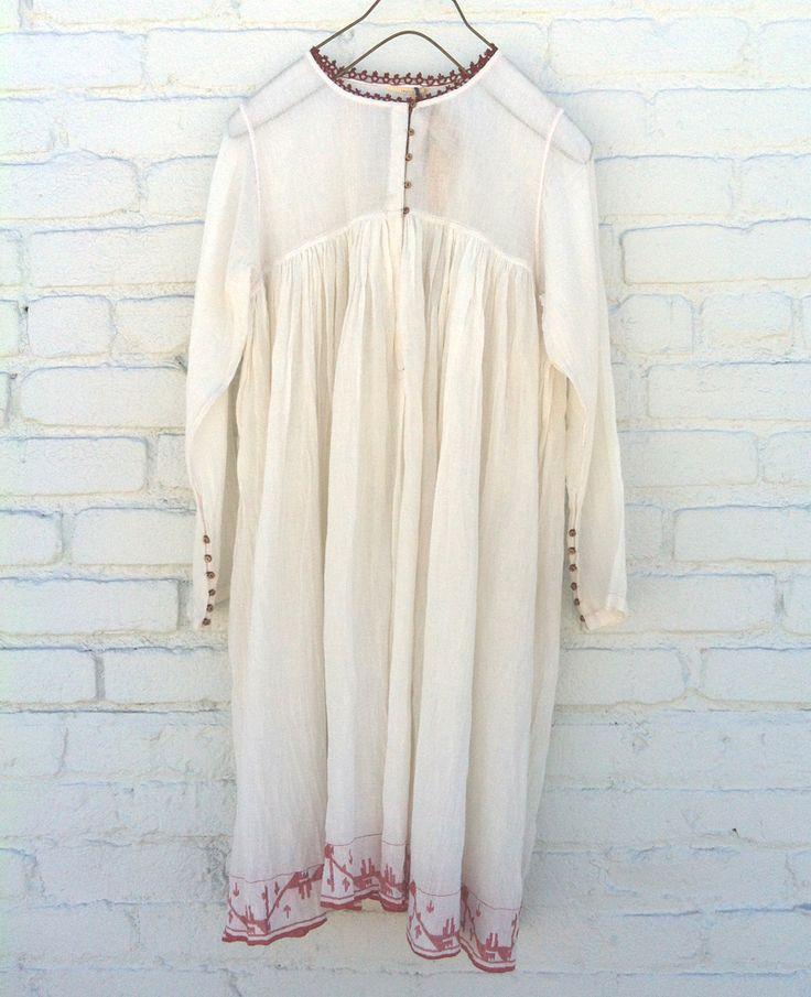 Injiri Geru Sheer Dress White At New High M Art   Nuji