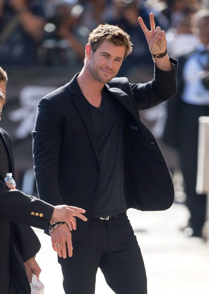 Chris Hemsworth at 'Jimmy Kimmel Live!'