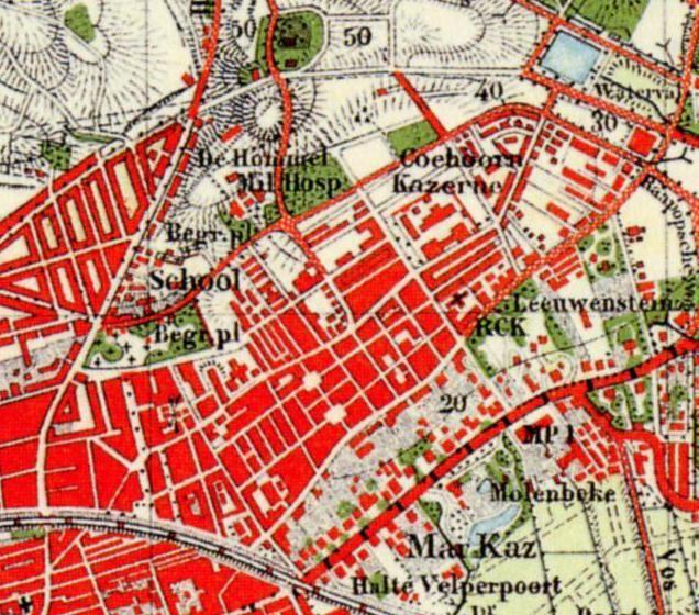 kaart arnhem 1910