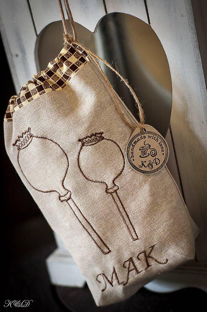 Úžitkový textil - Vrecko na MAK - 4571017_