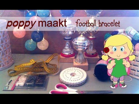 Poppy makes… a kumihimo bracelet with a football (soccer) pattern. In this video tutorial I will explain how you can make this. Have fun! Poppy maakt… een kumihimo armband met een voetbal patroon. In deze instructie video zal ik je uitleggen hoe je dit  maakt. Veel plezier!