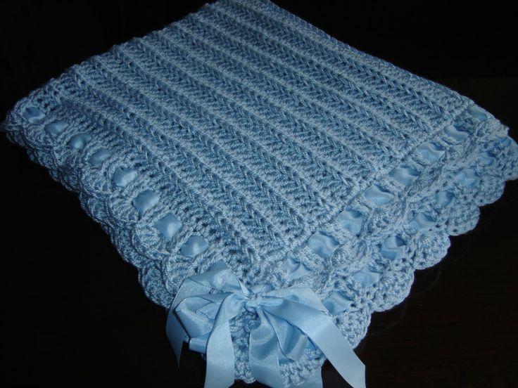 Tu mundo artesanal mantas para bebe crochet pinterest - Manta de bebe a ganchillo ...