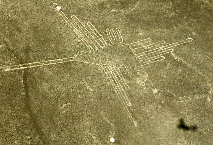 Geoglyph of a Hummingbird, Nazca Plain; Southwest Peru; c