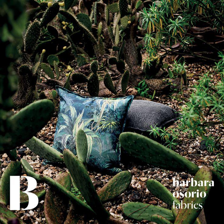 Equador collection 2015 by barbara osorio fabrics - B101 Omali; B105 São Tomé printed linen