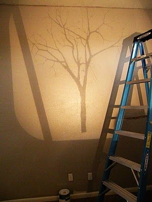 Tree murals murals and projectors on pinterest for Best projector for mural painting