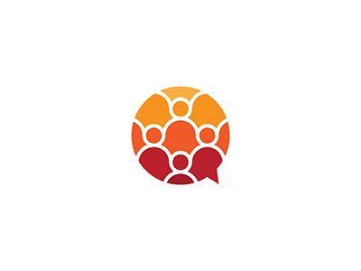 Chat bubble / people / net - Logo by Donatas Surgailis