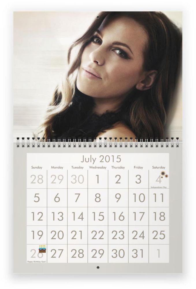 KATE BECKINSALE 2015 Wall Calendar - $16.49 - ONE DAY SALE!!!!!!!!!