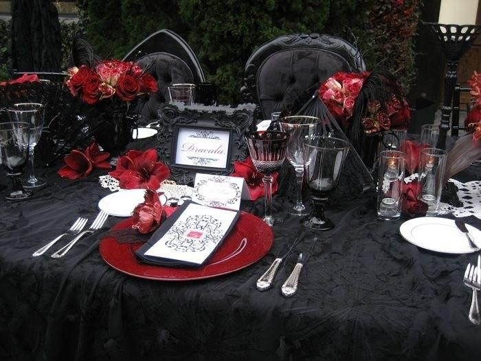 Vampire wedding – tips and great ideas for decorating