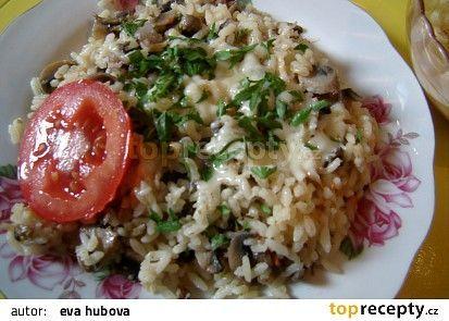 Hříbkové rizoto recept (sušené hřiby,uzený sýr)