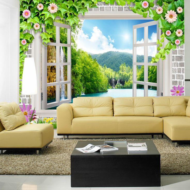 Meer dan 1000 idee n over 3d behang op pinterest slaapkamer muurschilderingen - Behang voor restaurant ...