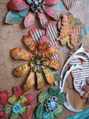 Annette's Creative Journey: Starbucks Altered Canvas.  Starbucks art.....love it!