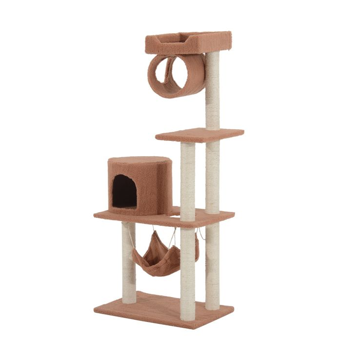 "Pawhut 56"" Cat Tree Condo"