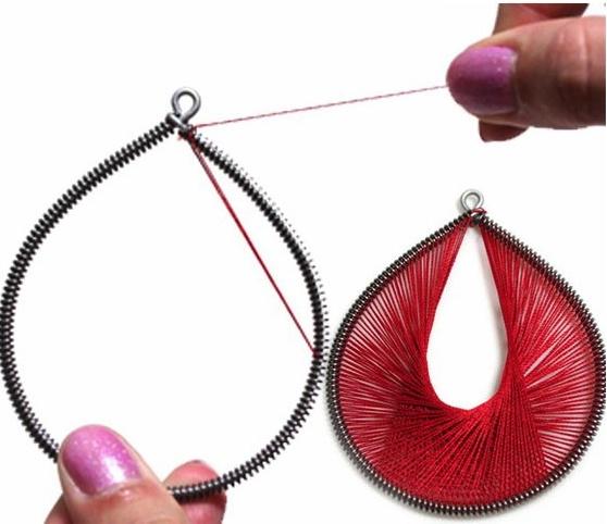 99 best string art earrings images on Pinterest Earrings String