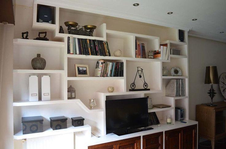 muebles de escayola salon buscar con google estanteria obra cocina salon pinterest saln buscar con google y estanteras
