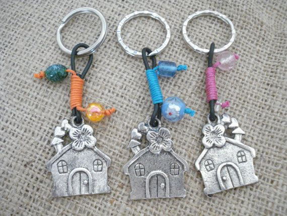 House keyring new home gift keychain house home sweet by Poppyg