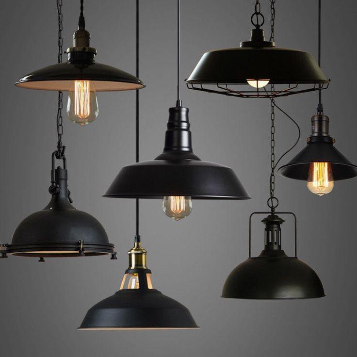 Industrial Loft Warehouse Barn Pendant Lamp Indoor Hanging Ceiling Light Fixture Ba Industrial Light Fixtures Ceiling Light Fixtures Industrial Ceiling Lights