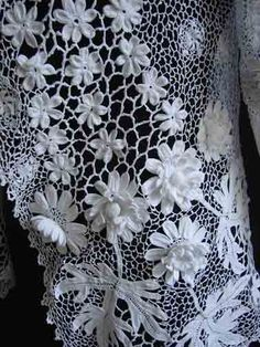 Exquisite Irish Crochet Jacket                                                                                                                                                                                 Plus