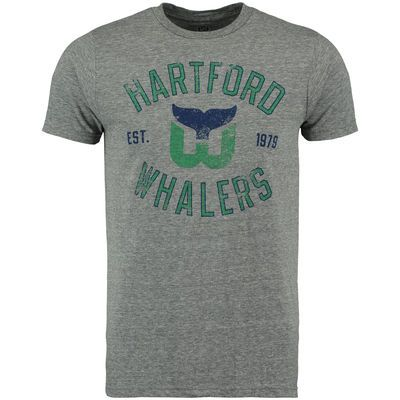 d36fc17d9 Men s Hartford Whalers Rinkside Gray Heritage Tri-Blend T-Shirt