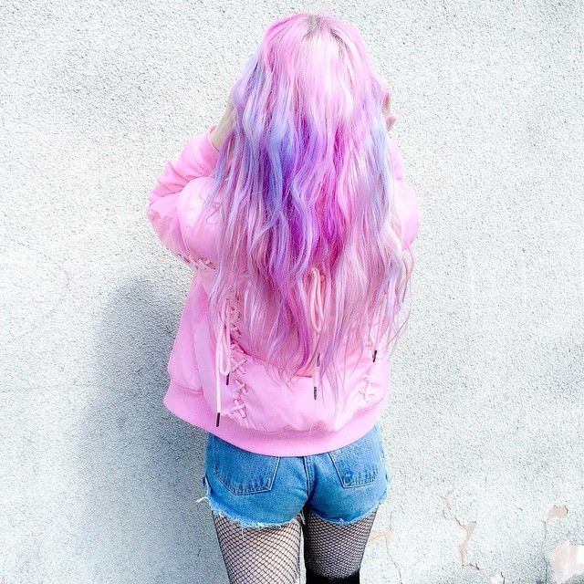 265 best hair color colored extensions images on pinterest cotton candy pink with lavender amazing pastel hair color diy pmusecretfo Images