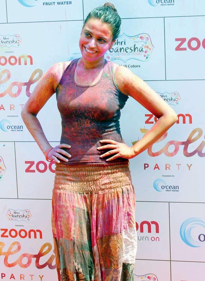 Swara Bhaskar celebrating #Holi 2016. #Bollywood #Fashion #Style #Beauty #Hot