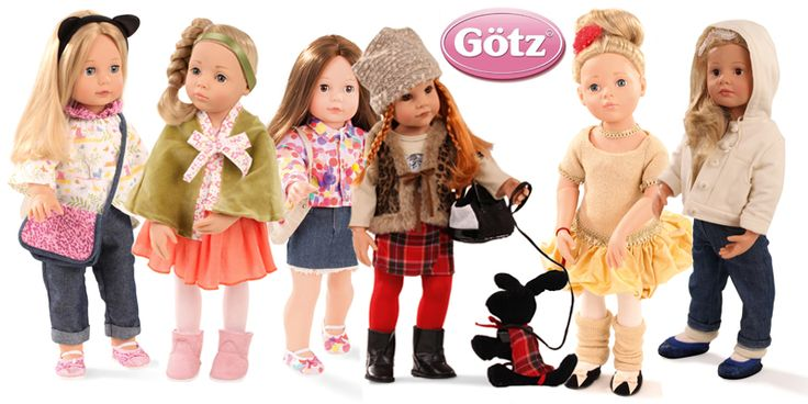 """'HAPPY KIDZ' and 'CLASSIC KIDZ' by GOTZ (NOT the Pottery Barn 'Precious Day Girl"""" Gotz dolls which are bland as bland can be). Still, at 20"""" doesn't fit most of the mass market 18"""" doll clothes."""
