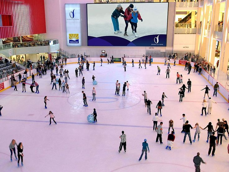 The Dubai mall is also home to an Olympic-sized ice skating rink — the first of its kind in Dubai.