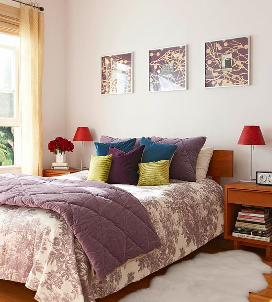 purple bedroom mediterranean matching - photo #30