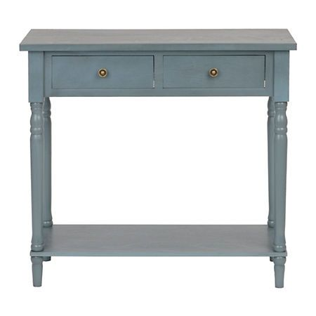 Painted blue console table console tables consoles and blue for Sofa table kirklands