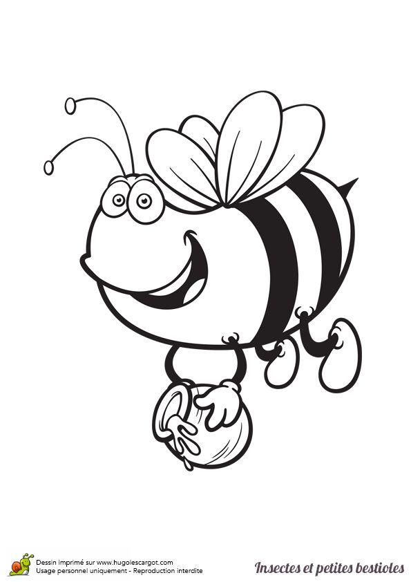 a colorier une gupe un peu gourmande ramenant du miel - Colorier Une Photo